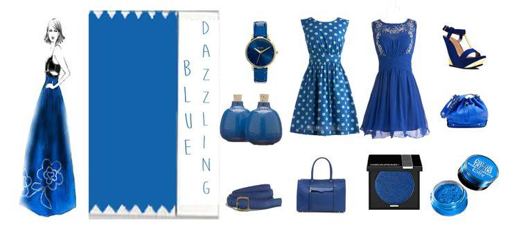 Dazzling Blue - Azul deslumbrante, color de moda 2014. El azul nos hace sentir relajados, es un color elegante tanto para un estilo casual como para un evento en el que haya que ir de etiqueta y hasta en maquillaje queda bien.