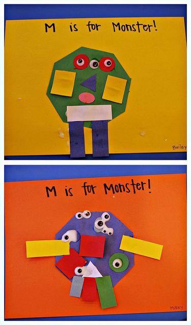 M is for Shape Monster...