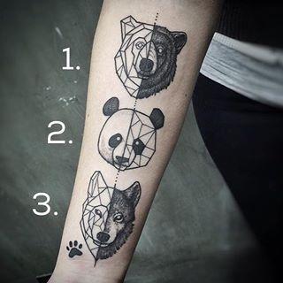 Este tatuaje para los amantes indecisos de los animales. | 23 Lindos tatuajes que los amantes de los animales adorarán