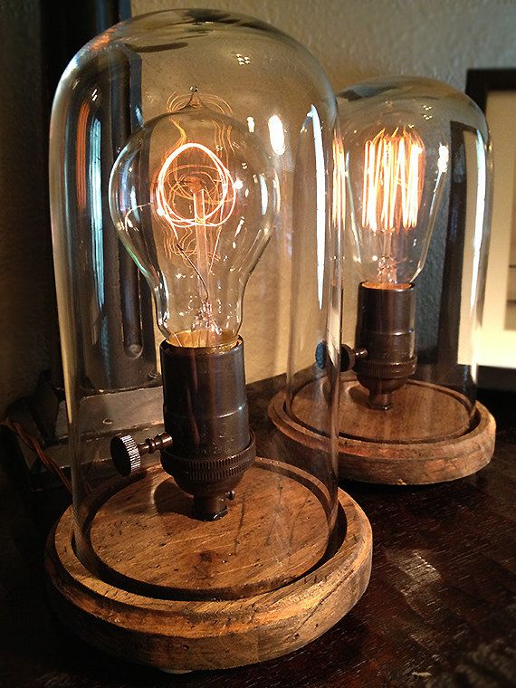 Set Of 2 Edison Style Desk Lamps Oil Can Finish By