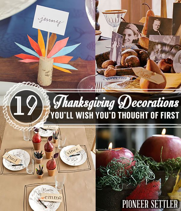 DIY Home Decoration | Easy and Perfect Fall Craft Projects by Pioneer Settler at http://pioneersettler.com/19-creative-thanksgiving-decorations-youll-wish-youd-thought/