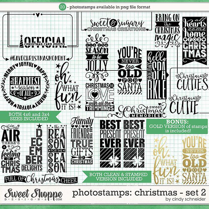 Cindy's Photostamps - Christmas: Set 2 by Cindy Schneider