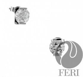 FERI popular 950 silver jewelry-- Exclusive FERI 950 Siledium silver - Exclusive dual natural rhodium and palladium plating - Set with exclusive FERI Swan cut lab stones - Colour: white