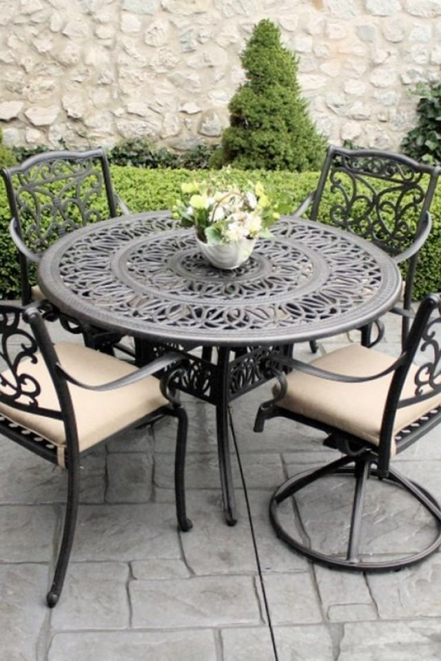 Black Wrought Iron Patio Chairs 6 Black Wrought Iron Outdo With