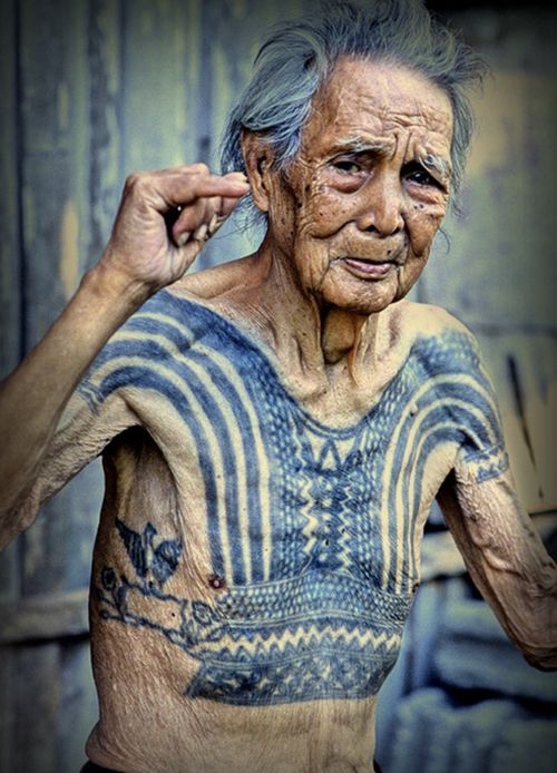 What will those tattoos look like when you're old? They will tell a story, they will let you know I stood for something or I was a rebel or I got drunk and had an extra $50 in my pocket. Or they look like this- bad ass