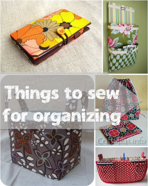 Are you organized?  Do you want to be?  Do you need some gifts for the organizer in your life?  Help maintain order and reduce clutter in your home, office, car, handbag and more!  These tutorials will get you started!Gifts for the Organizer | http://fabricshopperonline.com/a-week-of-handmade-gift-tutorials-for-the-organizer/