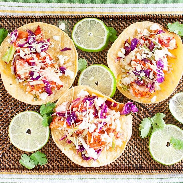 Lobster Tacos With Chili-lime Slaw And Avocado Cream Drizzle via @feedfeed on https://thefeedfeed.com/kategruetzdavis/lobster-tacos-with-chili-lime-slaw-and-avocado-cream-drizzle