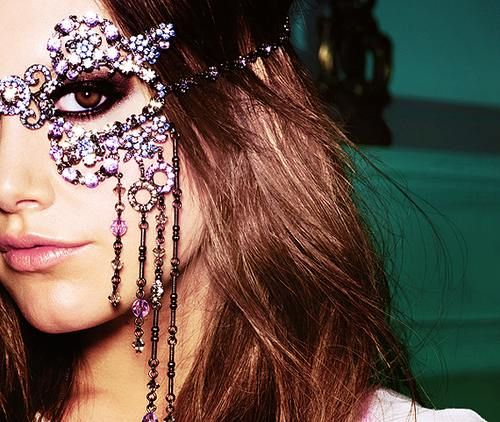 sexy beaded mask awesomeness!: Hair Colors, Masquerades Wedding, Masque Ball, Masquerades Parties, Masks Masquerades, Funkyfashion, The Faces, Funky Fashion, Ashley Tisdale