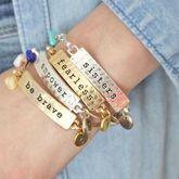 Personalised Mantra Bracelet With Birthstone