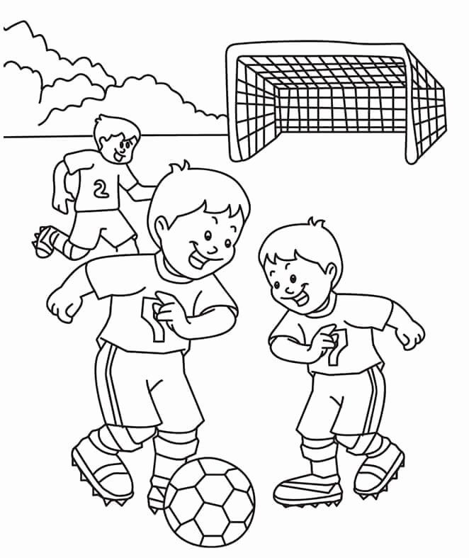 Kids Playing Coloring Page Inspirational Froggy Plays Soccer