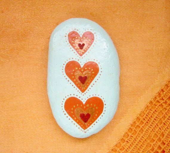 Art stone/paperweight by Ludibund on Etsy, $12.00