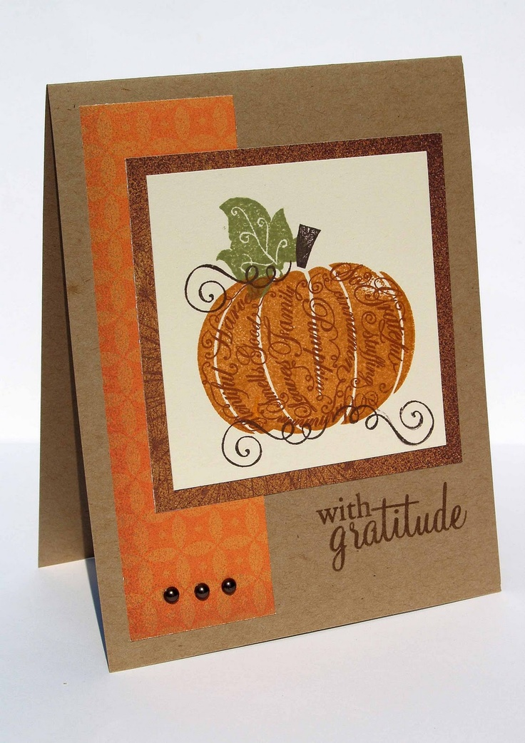 handmade Thanksgiving card great basic layout