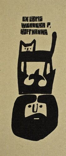 Ex libris by Polish graphic designer Andrzej Kot