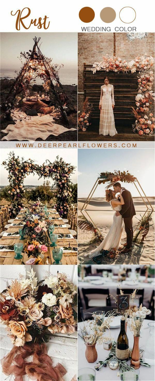rustic wedding ideas- rust wedding color ideas #wedding #weddings #weddingcolors…