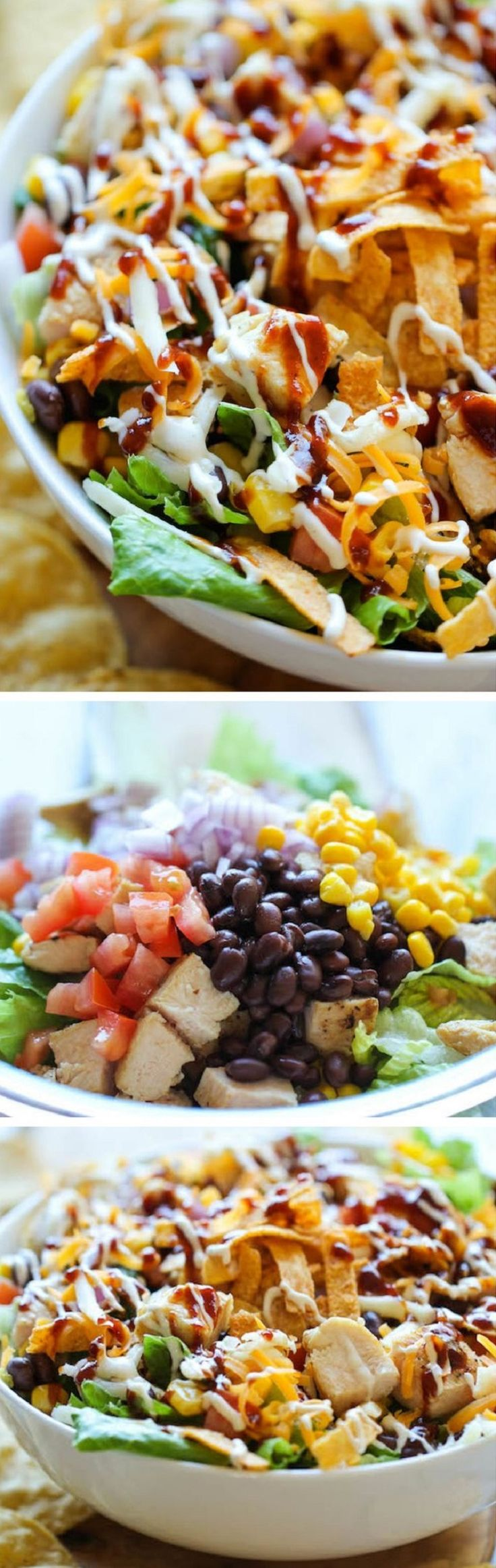 BBQ Chicken Salad - 18 Super-Healthy Chicken Salads | GleamItUp