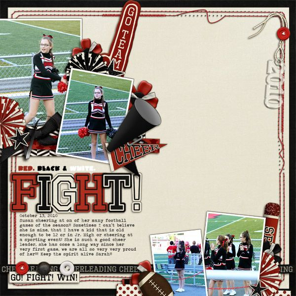 Game Spirit Page. Use band or sporting event in place of cheerleading.