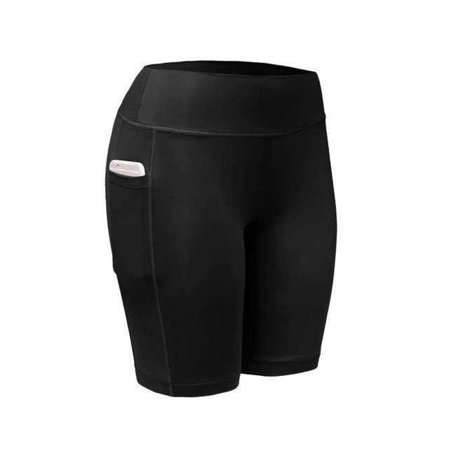2017 Quick Dry Women Sports Shorts Women Elastic Running Fitness Gym Shorts With Pocket Feminino Fitness Workout Shorts