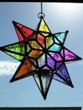 Multicoloured glass star candle holder  £28