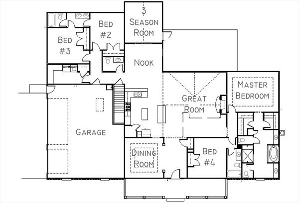 Dream floor plan from granite ridge builders ranch with for Granite ridge floor plans