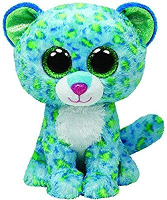 Amazon.com  Ty Beanie Boos Leona Blue Leopard Regular Plush  Toys   Games c99e50c49188