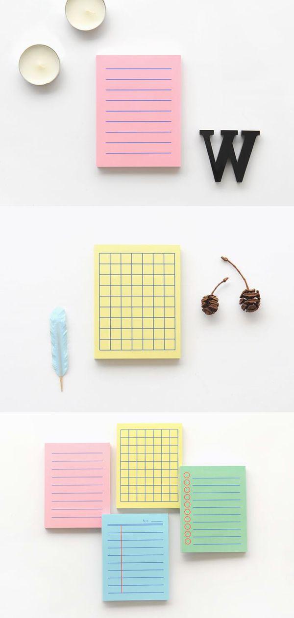 Colorful Mini Bold Notepad