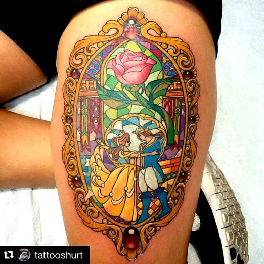 beauty and the beast cast tattoo - Google Search