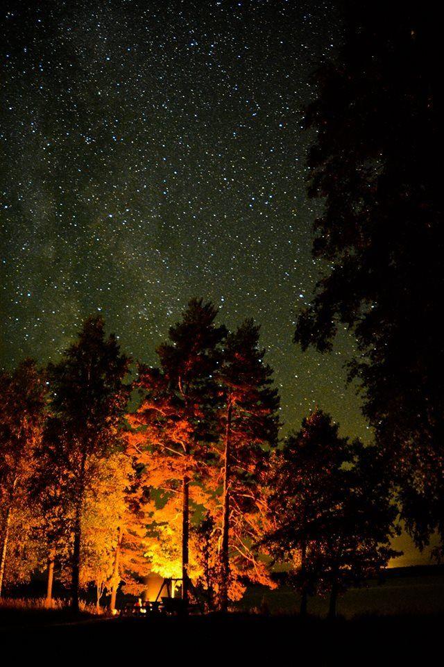 Campfire and stars, Rantasalmi, Suomi, Finland
