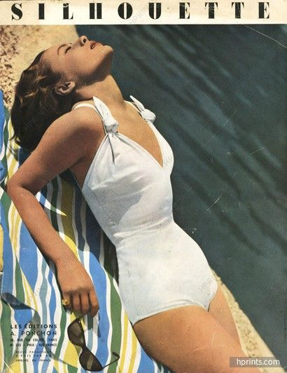 Schiaparelli 1949 Cover, Swimwear, Photo Guy Arsac