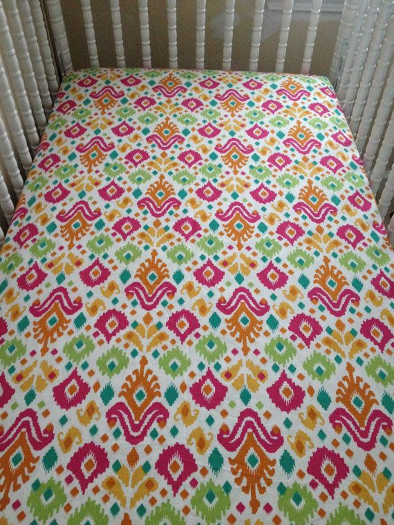 Fitted Crib Sheet in Southwestern Pattern by JessieOchsGifts