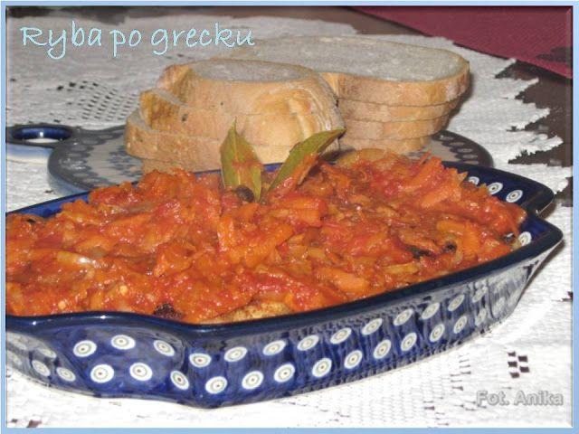 Domowa kuchnia Aniki: Ryba po grecku