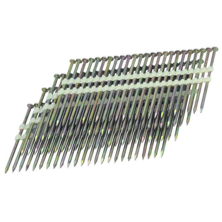 21° 3-1/4 in. 10 Gauge Galvanized Smooth Shank Nails 2000 Pc