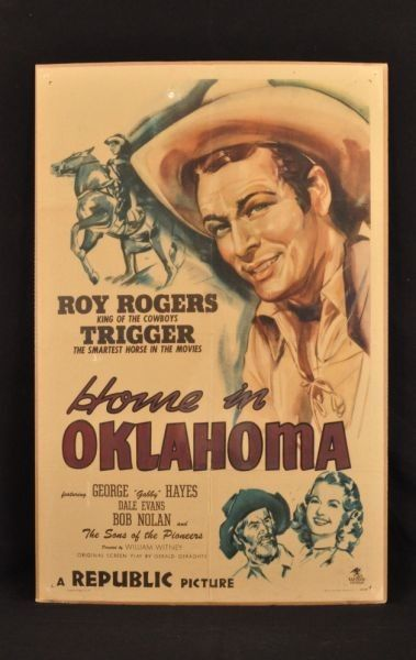 Roy Rogers movies | 167: Roy Rogers Home in Oklahoma Movie Poster.Though the artist made Roy look like Rex Allen,it's a very nice poster.