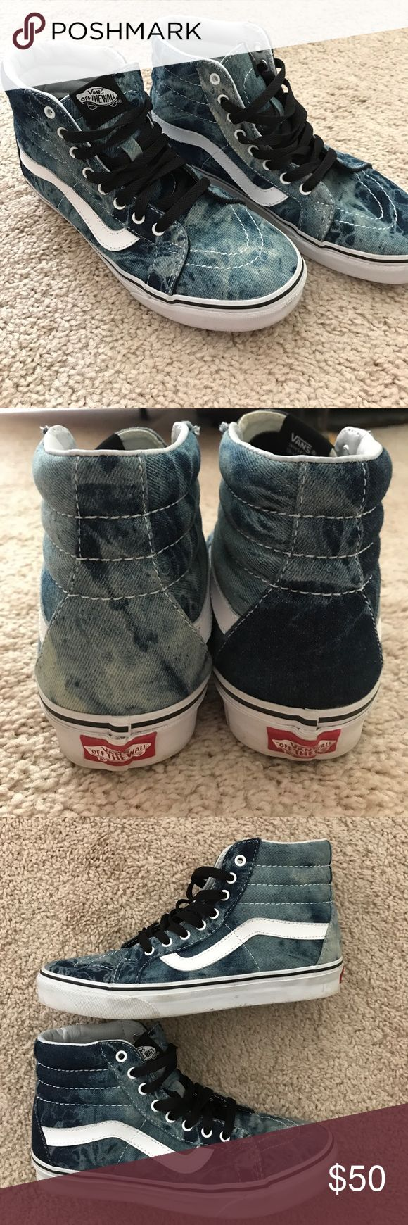 Acid wash Vans Denim acid wash high tops. Men's 7, Women's 8.5 Vans Shoes Sneakers
