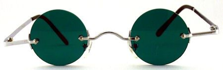 Ozzy Small Round Color Tinted Sunglasses - 595 Green