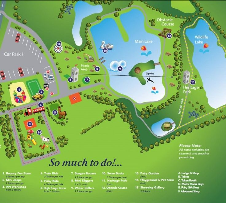 Map of Rathbeggan Lakes - Treasure Tales Blog