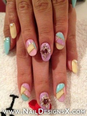sexy mix 010 nail art