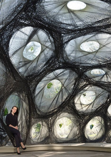 University of Stuttgart unveils carbon-fibre pavilion based on beetle shells.