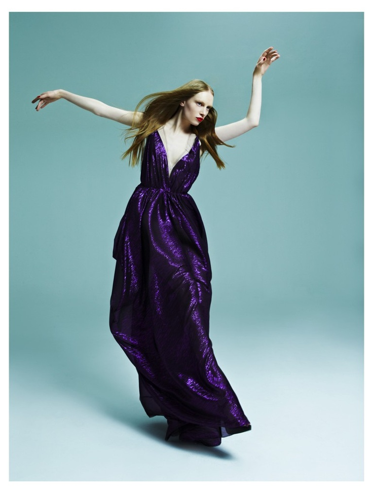 Shiny purple dress
