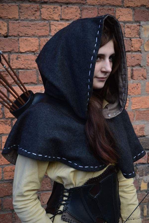 Medieval Hood - Grey