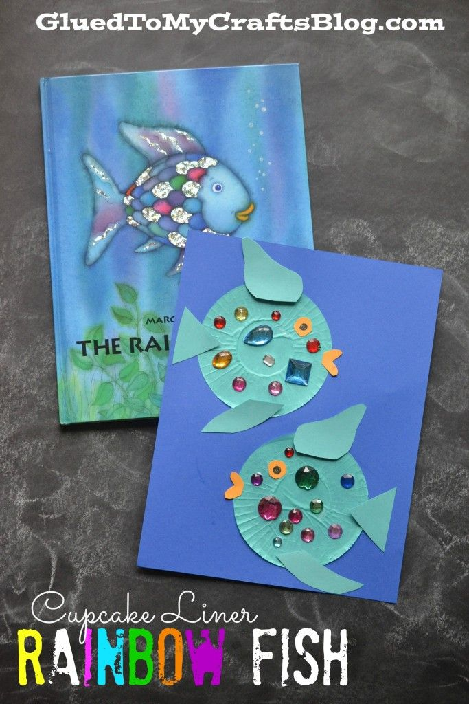 Cupcake Liner Rainbow Fish {Kid Craft}
