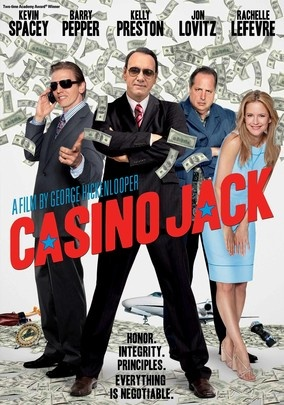 CASINO JACK (2010) - Kevin Spacey stars in this drama as disgraced political lobbyist Jack Abramoff, who defrauded Native American tribes out of tens of millions of dollars in his efforts to peddle influence in Washington's corridors of power. As justice closes in on Abramoff and his associates, the audacious scope of his scams comes to light. Based on true events, this film from director George Hickenlooper co-stars Kelly Preston and Barry Pepper.