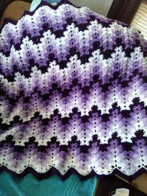 Grandma Spiked My Ripple Blanket | Crochet ripple afghan ...