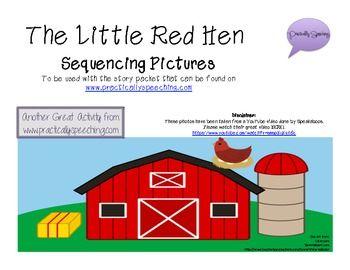 Little Red Hen Sequencing Picture Cards! - Practically Speeching Blog - TeachersPayTeachers.com