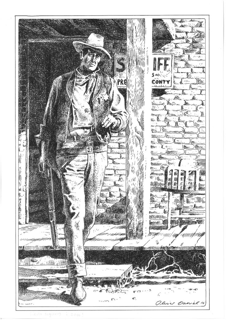 Figure drawing John Wayne