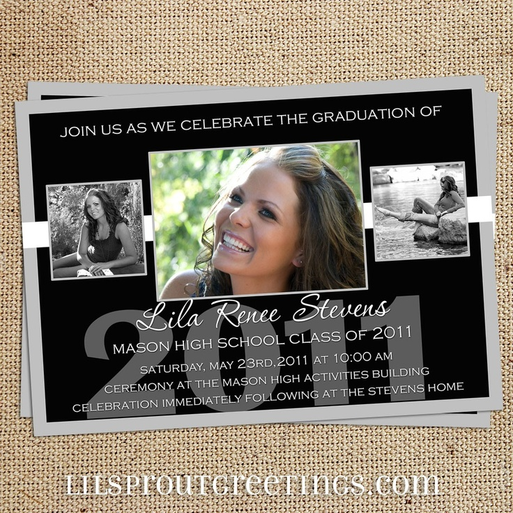 38 best graduation announcements images on pinterest graduation photo graduation announcement invitation high school or college 1800 via etsy filmwisefo