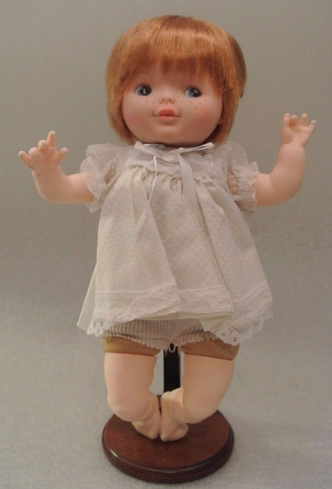 """Vintage 13"""" Ginger Blonde Baby Doll PLAY PAL Plastics 1975 Cloth Vinyl Freckles #Ideal #DollswithClothingAccessories"""
