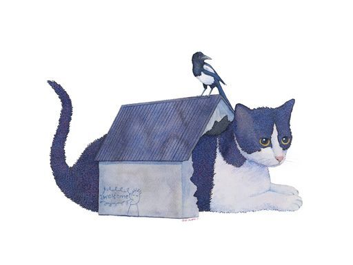 "Check out my art piece ""Gato Casa - Urraca"" on crated.com"