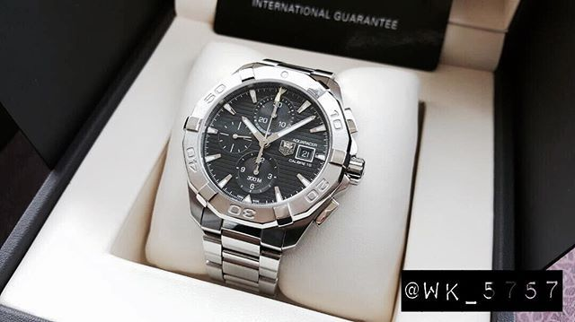 REPOST!!!  FOR SALE:  ORIGINAL TAG HEUER AQUARACER CHRONOGRAPH AUTOMATIC 43MM CAL16 STEEL BEZEL. REF:CAY2110. FULLSET BOX AND PAPERS! ASK: PLEASE CALL FOR PRICE. INSTAGRAMMERS GOT SPECIAL PRICE.  PLEASE DM  OR  CALL:+628558855757.  OVERSEAS BUYERS PLEASE