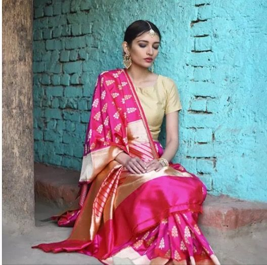 This gorgeous Vidhi Singhania saree can be found on Jaypore.
