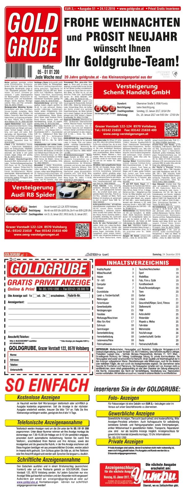 Goldgrube - Ausgabe 51 - Magazine with 48 pages: Privat Gratis Inserieren auf www.goldgrube.at